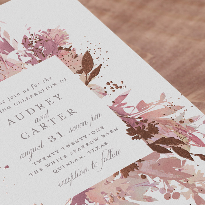 Fantasy Wedding Invitations: Fantasy Foil-Pressed Wedding Invitation Petite Cards By