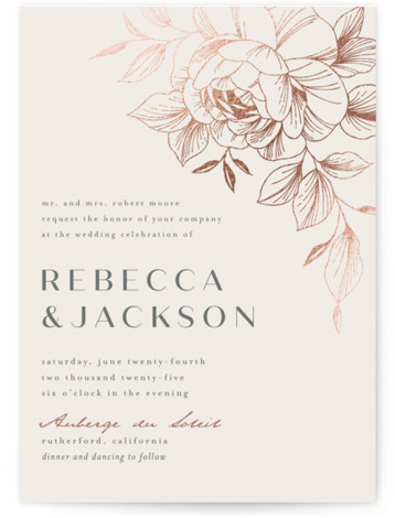 Lovely Foil-Pressed Wedding Invitations