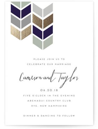 Mau Loa Foil-Pressed Wedding Invitations