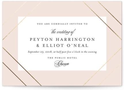 Chic Mat Foil-Pressed Wedding Invitations