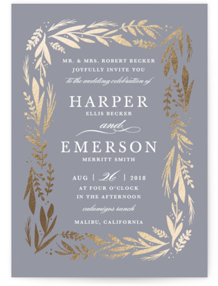Florabel Foil-Pressed Wedding Invitations
