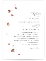 This is a black foil stamped wedding invitation by Kimberly FitzSimons called Pirouette with foil-pressed printing on signature in standard.