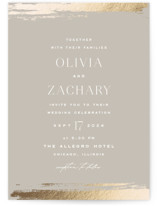 This is a grey foil stamped wedding invitation by Carolyn Nicks called True Love with foil-pressed printing on signature in standard.
