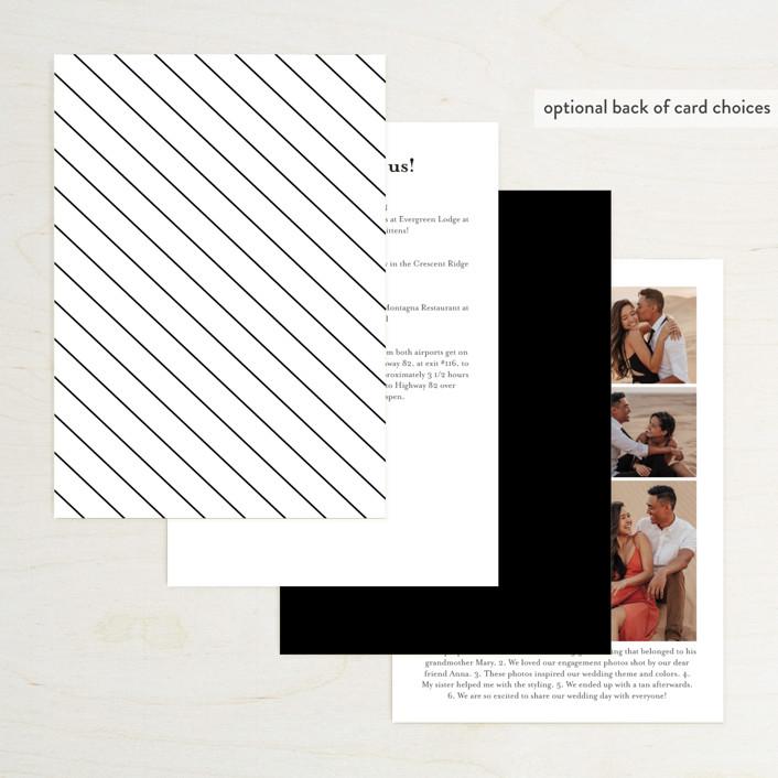 Gallant Foil-Pressed Wedding Invitations By Genna Cowsert
