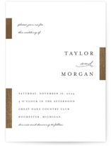 This is a white foil stamped wedding invitation by Genna Cowsert called Gallant with foil-pressed printing on signature in standard.