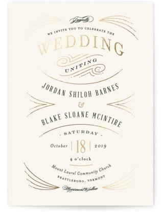 Arched wedding Foil-Pressed Wedding Invitations