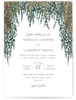 This is a green foil stamped wedding invitation by Elly called In Love with foil-pressed printing on signature in standard.