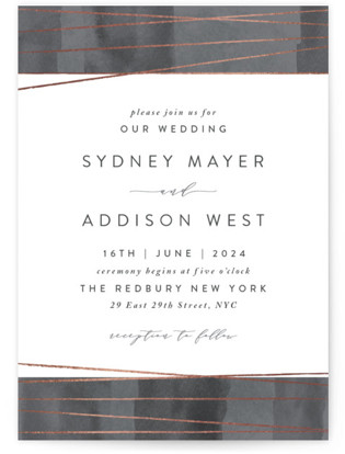 Geo Chic Foil Pressed Wedding Invitations