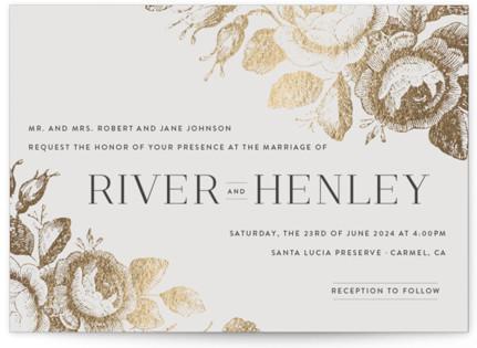 Beloved Foil-Pressed Wedding Invitations