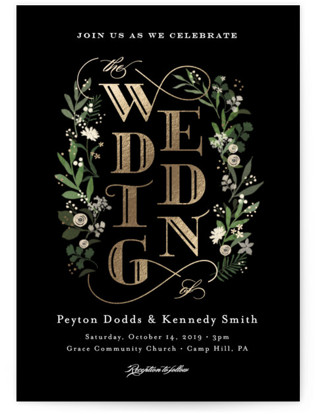 Stacked wedding Foil-Pressed Wedding Invitations