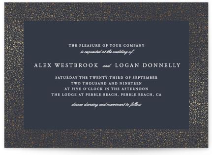 glittered Foil-Pressed Wedding Invitations