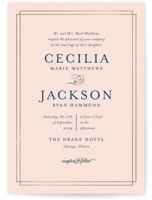 Chic Gala Foil-Pressed Wedding Invitations