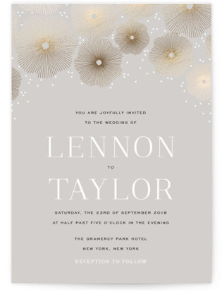 Perfect Harmony Foil-Pressed Wedding Invitations