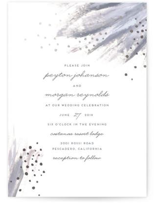 Shimmering Statement Foil-Pressed Wedding Invitations