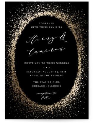 Sprinkling Foil-Pressed Wedding Invitations