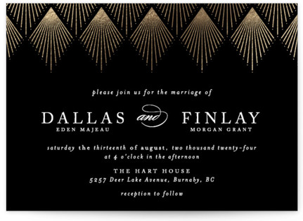 Art Deco Wedding Invitation Suites – Art Deco Party Invitations