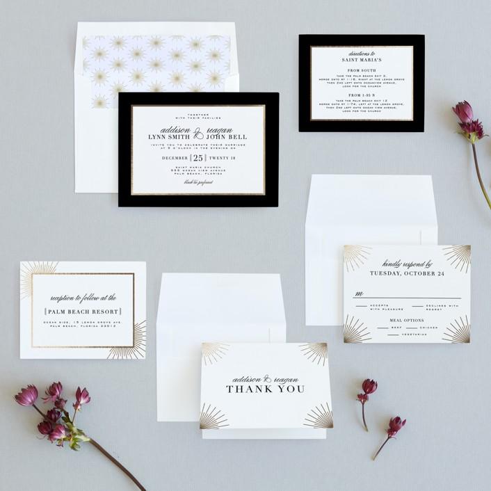 Elegant Type Foil-Pressed Wedding Invitations by Julia Hall | Minted
