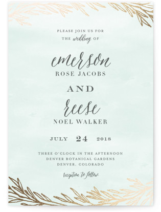 Embrace Foil-Pressed Wedding Invitations