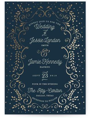 Frame Of Love Foil-Pressed Wedding Invitations