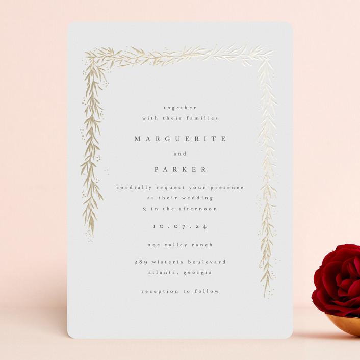 """kawaguchi"" - Foil-pressed Wedding Invitations in Moonstone by chocomocacino."