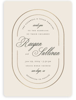 This is a beige foil stamped wedding invitation by Brianne Larsen called Full Circle with foil-pressed printing on signature in standard.