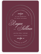 This is a purple foil stamped wedding invitation by Brianne Larsen called Full Circle with foil-pressed printing on signature in standard.
