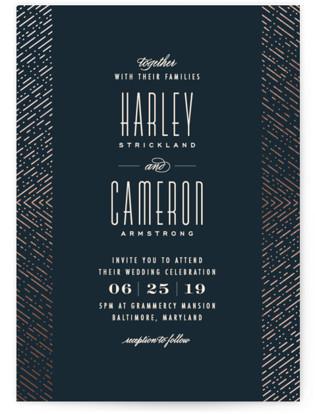Ballroom Glitz Foil-Pressed Wedding Invitations