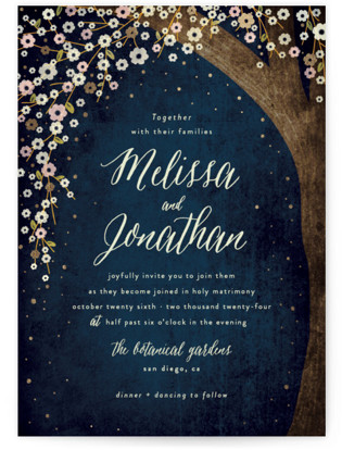 Outside Foil-Pressed Wedding Invitations