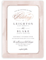This is a pink foil stamped wedding invitation by Hooray Creative called Forever Elegant with foil-pressed printing on signature in standard.