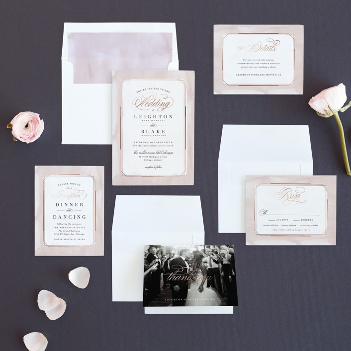 Forever Elegant Foil-Pressed Wedding Invitations by Hooray Creative ...