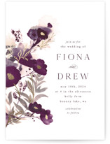 This is a purple foil stamped wedding invitation by Olivia Raufman called Splendid Ink with foil-pressed printing on signature in standard.
