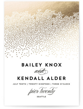 Sparkling Celebration Foil Pressed Wedding Invitations