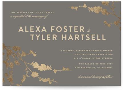 In Bloom Foil-Pressed Wedding Invitations