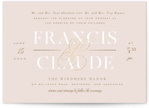 This is a pink foil stamped wedding invitation by Leah Bisch called Lovely Day with foil-pressed printing on signature in standard.
