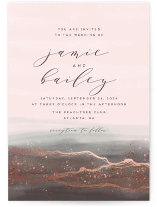 Natural Elegance Foil-Pressed Wedding Invitations
