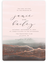 This is a pink foil stamped wedding invitation by iamtanya called Natural Elegance with foil-pressed printing on signature in standard.