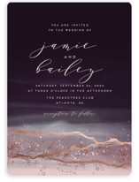 This is a purple foil stamped wedding invitation by iamtanya called Natural Elegance with foil-pressed printing on signature in standard.