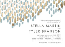 Modern Dash Foil-Pressed Wedding Invitations By Makewells