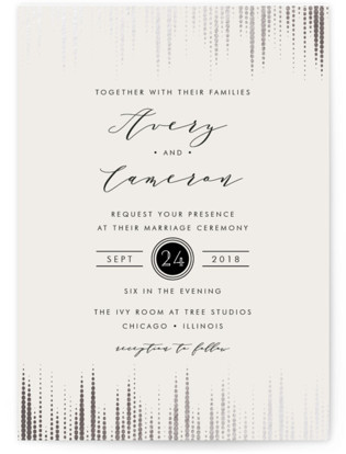 photo of Symphonic Foil Pressed Wedding Invitations