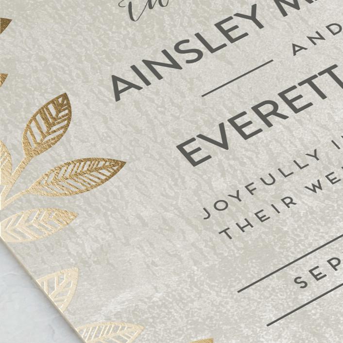 Folk Filigree Foil Pressed Wedding Invitations By Shoshin