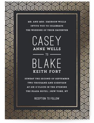 Interweave Foil-Pressed Wedding Invitations