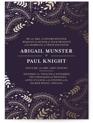 Wedding Waltz Foil-Pressed Wedding Invitations