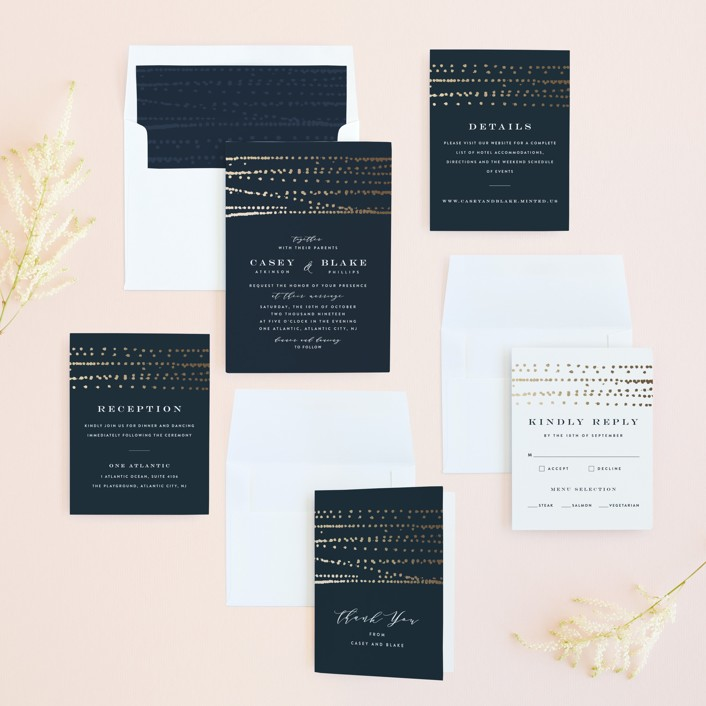 Rippling waters foil pressed wedding invitations by ana sharpe minted invitation suite stopboris Image collections