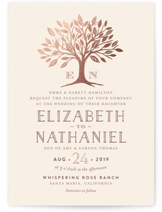 photo of Enchanted Foil Pressed Wedding Invitations
