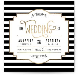 photo of Ascot Chic Foil Pressed Wedding Invitations