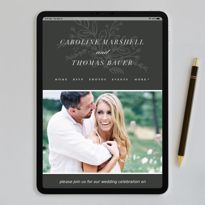 Best Website For Wedding Invitations: Graceful Foil-Pressed Wedding Invitations By Jessica
