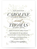 This is a gold foil stamped wedding invitation by Jessica Williams called Graceful with foil-pressed printing on signature in standard.