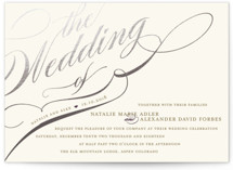 Winter Flourish Foil-Pressed Wedding Invitations