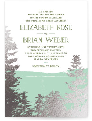 Mountain View Foil-Pressed Wedding Invitations