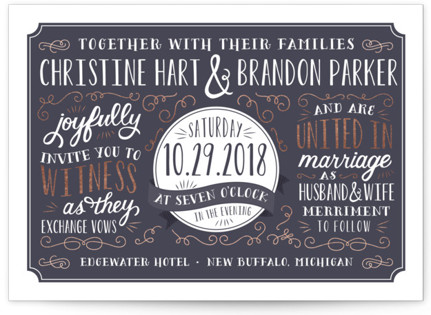 Serendipity Foil-Pressed Wedding Invitations